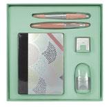 Caja regalo cuadrada Silver verde claro Milan