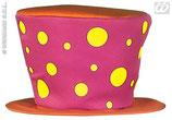 Sombrero de payaso con topos