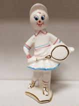 Niña tenista, con detalles en dorado