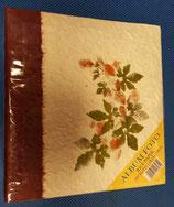 Album de fotos hojas papel de arroz y flores secas.  Colores surtidos.  100 fotos deslizables de 12x18/13x19