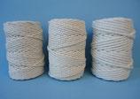 Rollo cordón macramé algodón crudo