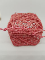 Cajita trenzada rosa y crema (pack 2)