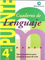 Cuaderno Puente Lenguaje 4º curso primaria. Edarca