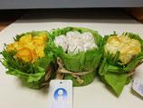 Detalle ramo 6 flores de papel