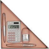 Caja regalo triangular Silver rosa Material escolar Milan
