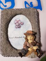 Portafoto resina muñeca con osito