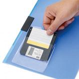 Bolsillos disquetes autoadhesivos con tapa