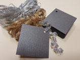 Etiquetas negra perlada + cintas (007)