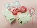 Etiquetas blancas alianzas oro + cintas