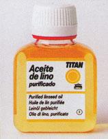 Aceite de lino purificado.  Titan