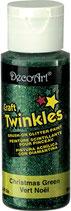 Pintura Americana con brillantina Decoart.  CRAFT TWINKLES.  Bote 59 ml.