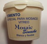 Cemento especial para mosaico vitreo.