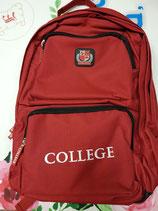 Mochila College roja.  Reforzada