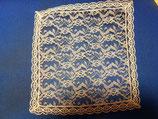 Pañuelo blonda ribeteado puntilla BEIG
