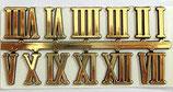 Numeros romanos dorados para reloj 12 mm alto