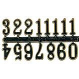 Numeros ÁRABES dorados para reloj 12 mm alto