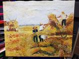 Lienzo pintado a mano escena del campo