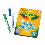 Rotuladores Crayola. Super lavable. 8 colores