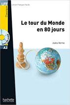 Le tour du monde en 80 jours.  Jules Verne.  Hachette