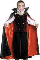 Disfraz de niño Drácula con capa