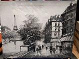 Lienzo pintado a mano PARIS