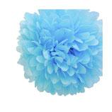 Pompones para colgar decoracion. Azul o blanco