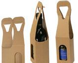 Caja de cartón para botella de vino