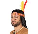 Tocado indio cinta con dos plumas