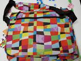 Mochila bandolera Busquets con bolsillos interiores dibujos geometricos