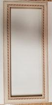 Marco crema con detalles rosados ref. 3001