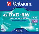 DVD-RW con caja Verbatin