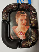 Portafoto plastico y tela