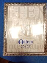 Portafoto metal plateado 20x25 cm