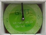 """Wanduhr """"GOTT ist rund um die Uhr bei Dir!"""