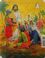Puzzle JESUS speist Menschenmenge