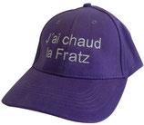 Casquette J'ai chaud la Fratz Violette