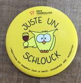 "Magnet ""Juste un Schlouck"" - Jaune"