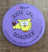 """Magnet """"Juste un Schlouck"""" - Violet"""