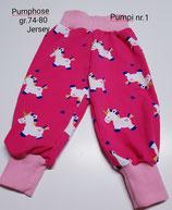 Baby Pumphose  (Mitwachshose) in den  Größen:.74-80-86 handgemacht