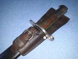Pionier Bajonett / Faschinenmesser M1914, Schweiz eidge. Ordonanz, Mit Koppelschuh