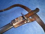 Pionier Bajonett / Faschinenmesser M1914, Schweiz eidge. Ordonanz, Mit Koppelschuh und Koppel