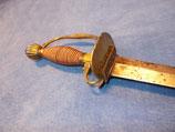 Offiziers Degen um 1750, extra breite Klinge, Schwere Ausführung