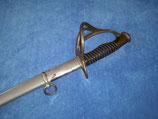 """Säbel M1822 mit glatter Montierung, Horn Griffhülse, Monogramm """"MV"""""""