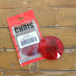 CHRIS ウインカー レンズ2枚セット 1986-09年 FLT FLST FXRT 対応