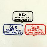1970~80年代 デッドストック ヴィンテージ SEX MAKES YOU COME AND GO メッセージ 刺繍 ワッペン