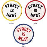 1970~80年代 デッドストック ヴィンテージ STREET IS NEAT メッセージ 刺繍 円形 ワッペン パッチ