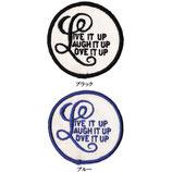 1970~80年代 デッドストック ヴィンテージ LIVE LAUGH LOVE IT UP メッセージ 刺繍 ワッペン