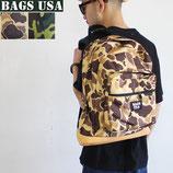 USA製 BAGS USA カモフラージュ柄 リュック