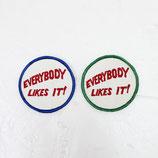 1970~80年代 デッドストック ヴィンテージ EVERYBODY LIKES IT 刺繍 ワッペン