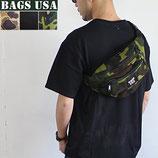 USA製 BAGS USA 3ポケット ウエストバッグ 2カラー